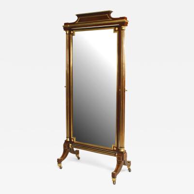 French Louis XVI Style Cheval Mirror