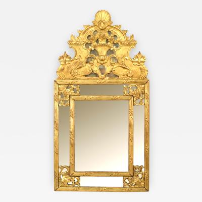 French Louis XVI Style Gilt wood Carved Wall Mirror
