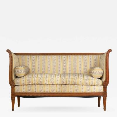 French Louis XVI Style Provincial Antique Loveseat Sofa Canap 19th Century