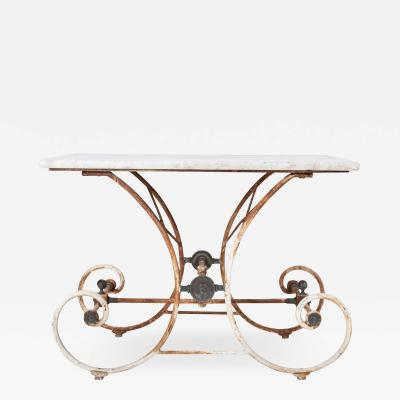 French Marble Patisserie Table