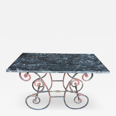 French Marble Top Bakers Table 19th Century