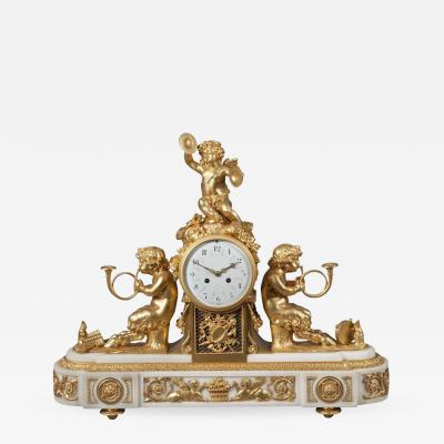 French Marble and Ormolu Mantle Clock