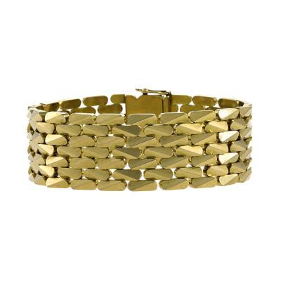 French Mid 20th Century Diamond Gold and Platinum Bracelet