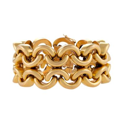 French Mid 20th Century Gold Link Bracelet