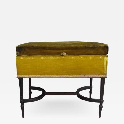 French Mid Century Modern Neoclassical Louis XVI Piano Bench