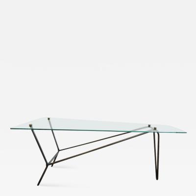 French Midcentury Glass Cocktail Table in the Style of Mathieu Mategot