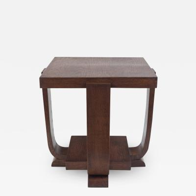 French Modernist Cerused Side Table