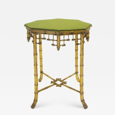 French Napoleon III Giltwood Faux Bamboo Table circa 1870