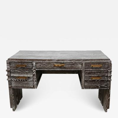 French Oak Desk attributed to Charles Dudouyt
