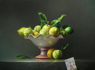 French Open Contemporary Still Life Giclee by Campanile