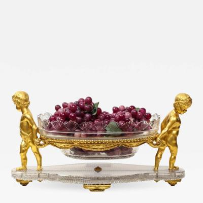 French Ormolu and Cut Glass Centrepiece by Baccarat Paris circa 1870