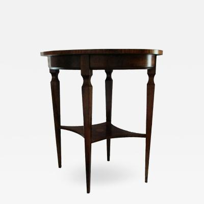 French Oval Louis XVI Inlay Side Table