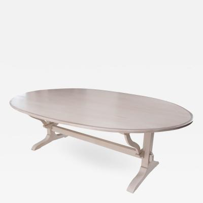 French Oval Painted Wine Taster s Dining Table