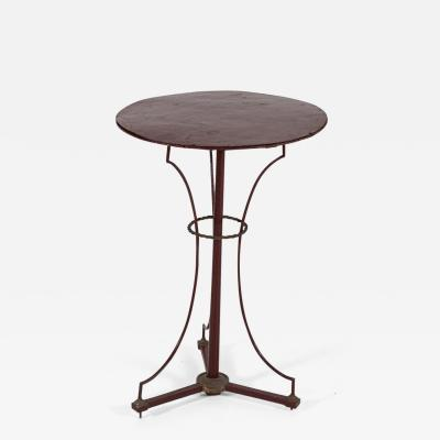 French Painted Brass Bronze Iron Chess Bistro Table
