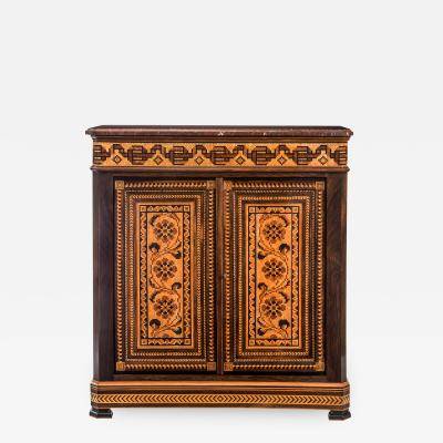French Parquetry Rosewood Cabinet
