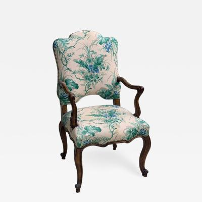 French Provincial Beechwood Open Armchair