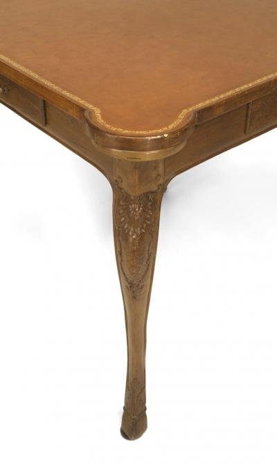 French Provincial Louis XV Style Walnut Game Table
