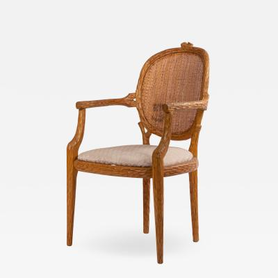 French Provincial Wooden Arm Chair