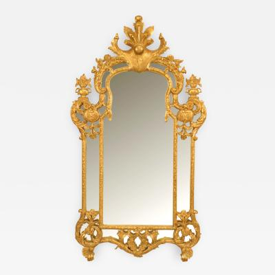 French R gence Style Gilt Vertical Wall Mirror