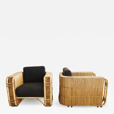 French Rattan Chairs