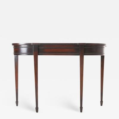 French Reproduction Mahogany Demilune Console 2 in Stock