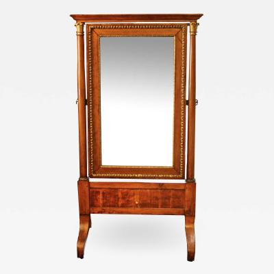 French Restauration Period Cheval Mirror