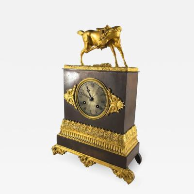 French Restauration Period Mantel Clock Equestrian Theme