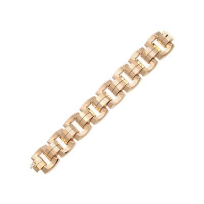 French Retro Linked Bracelet in 18K Gold c 1940