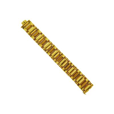 French Retro Tank Tread Gold Link Bracelet