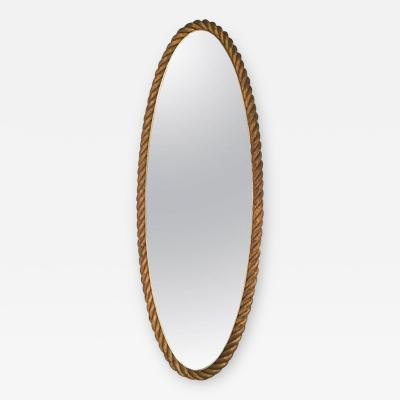 French Riviera Very High Gilt Rope Pure Mirror in Good Vintage Condition