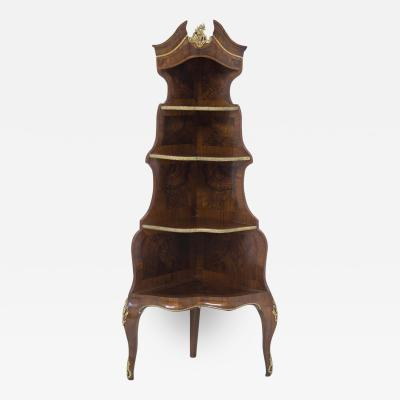 French School French tag re in Walnut Wood of the Early 1900s in the Style of Louis XV