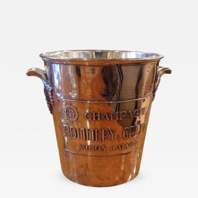 French Silver Champagne Bucket from Pommery Greno