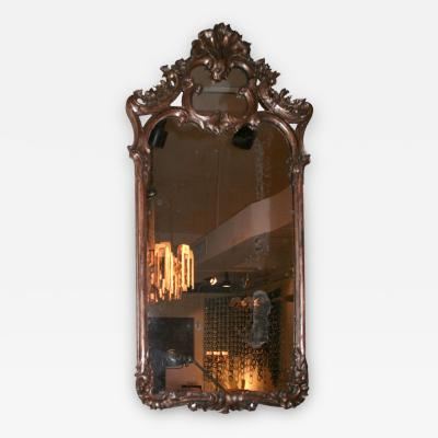 French Silver Gilt Wall Mirror