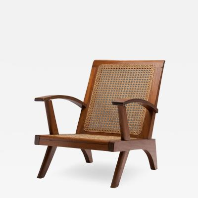 French Teak Armchair France 1950s