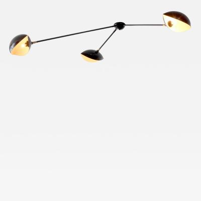 French Three Arm Ceiling Light