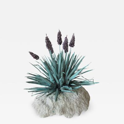 French Tole Lavender on Coral Base