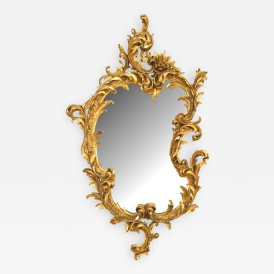 French Victorian Gilt Carved and Shaped Wall Mirror