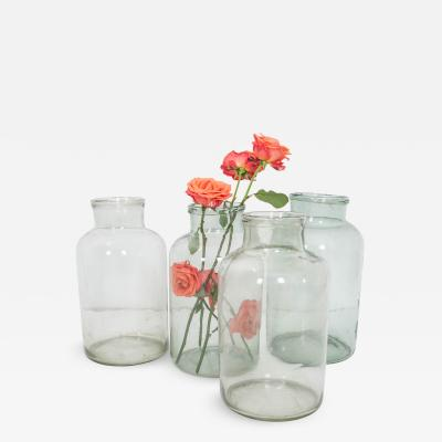 French Vintage Blown Glass Jars