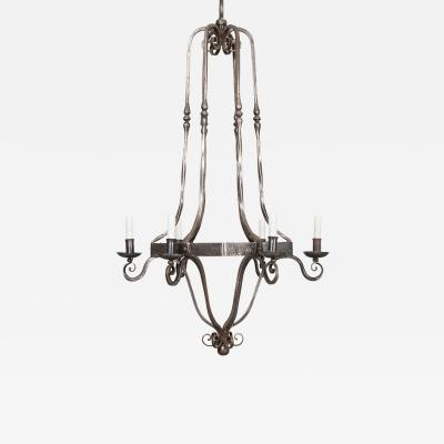 French Vintage Iron Chandelier