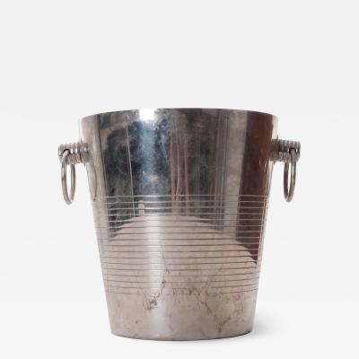 French Vintage Silverplate Wine Bucket
