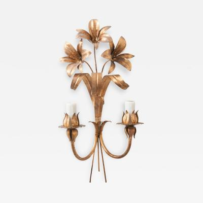 French Vintage Two Light Floral Sconce