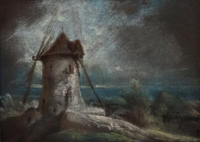 French Windmill near the Sea