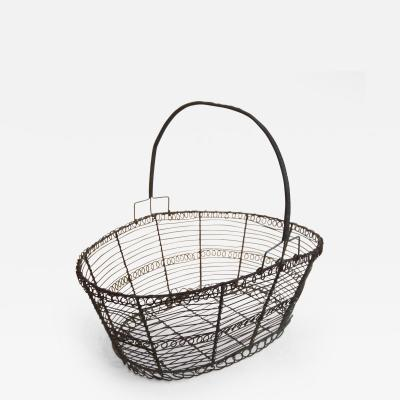 French Wire Basket Mid 19th Century