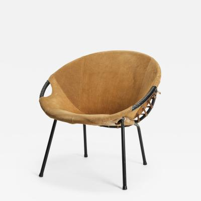 French armchair with suede