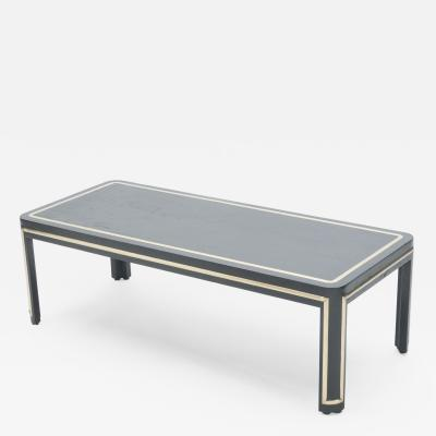 French black wood and brass Art deco coffee table 1940s