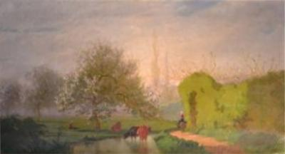 French country scene late 19th century