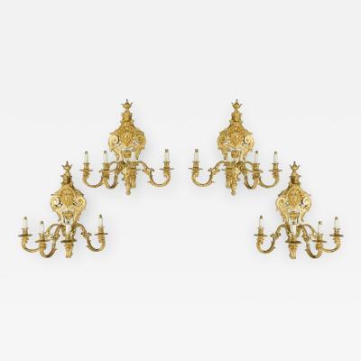 French gilt wall lights