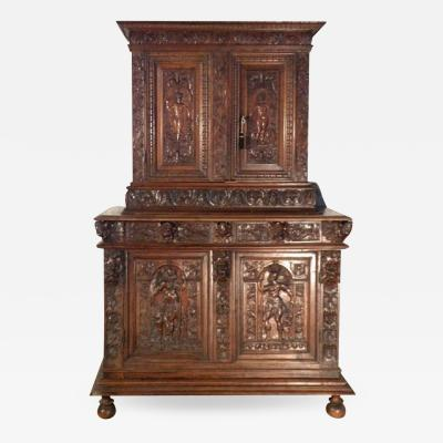 French late 16th century Renaissance Deux Corps Cabinet