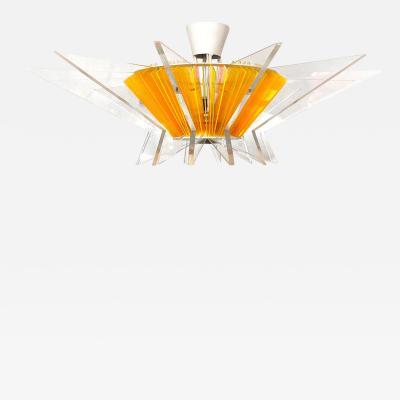 French plexiglass chandelier 1980s