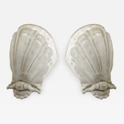 French riviera pair of plaster sconces